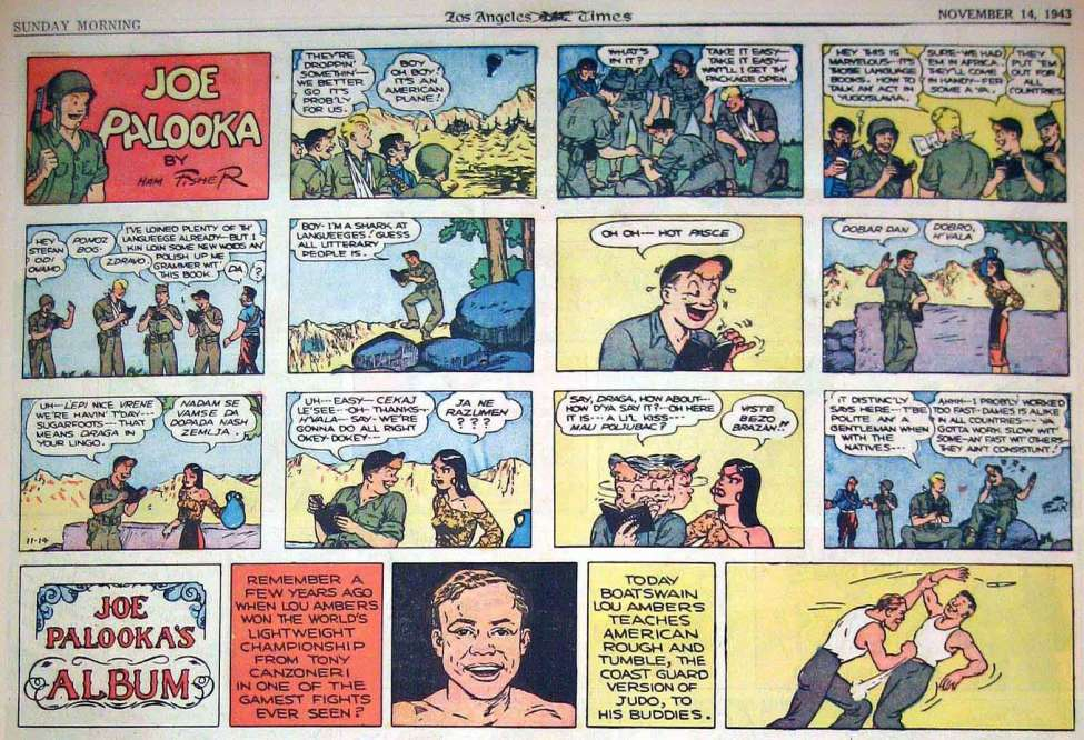 Joe Palooka Sunday Funnies